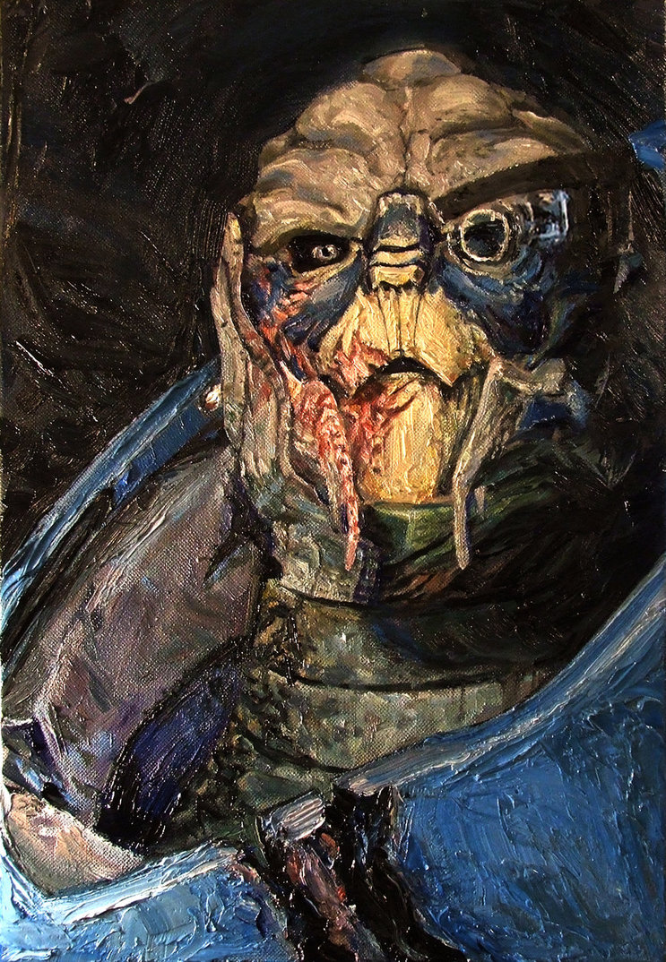 Mass Effect Oils - Garrus - by Sean Donaldson