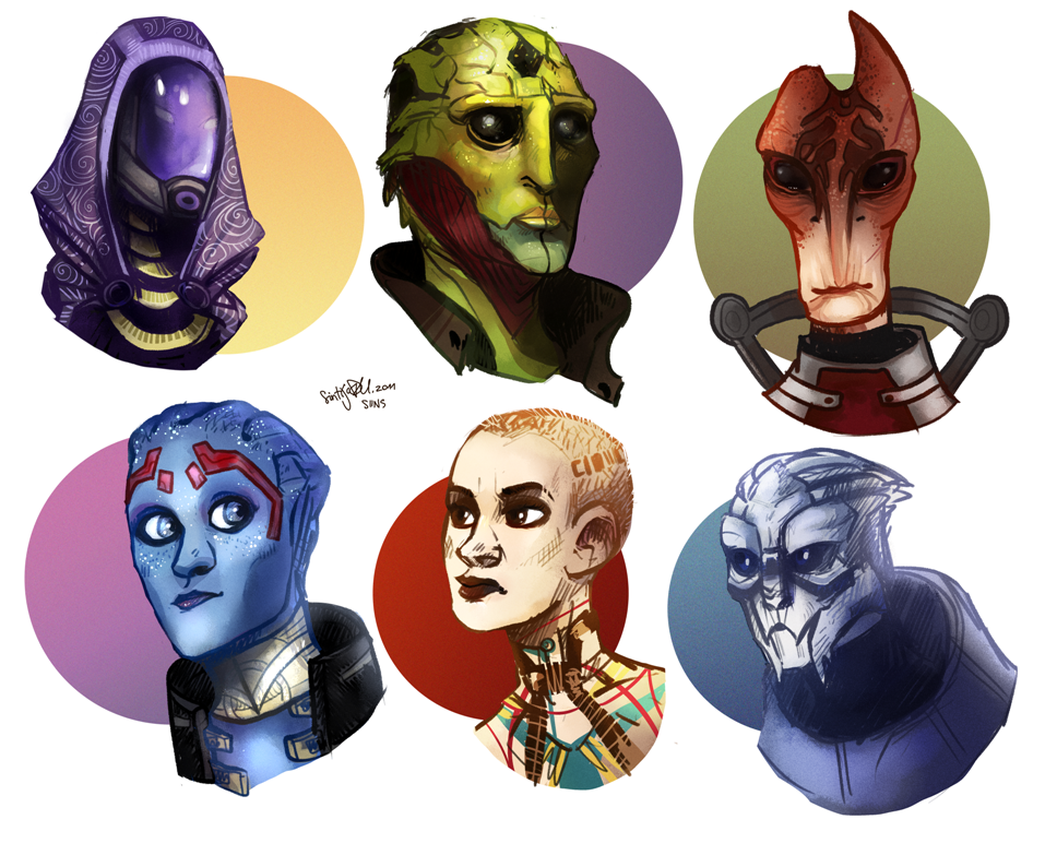 Mass Effect headsss by SIIINS