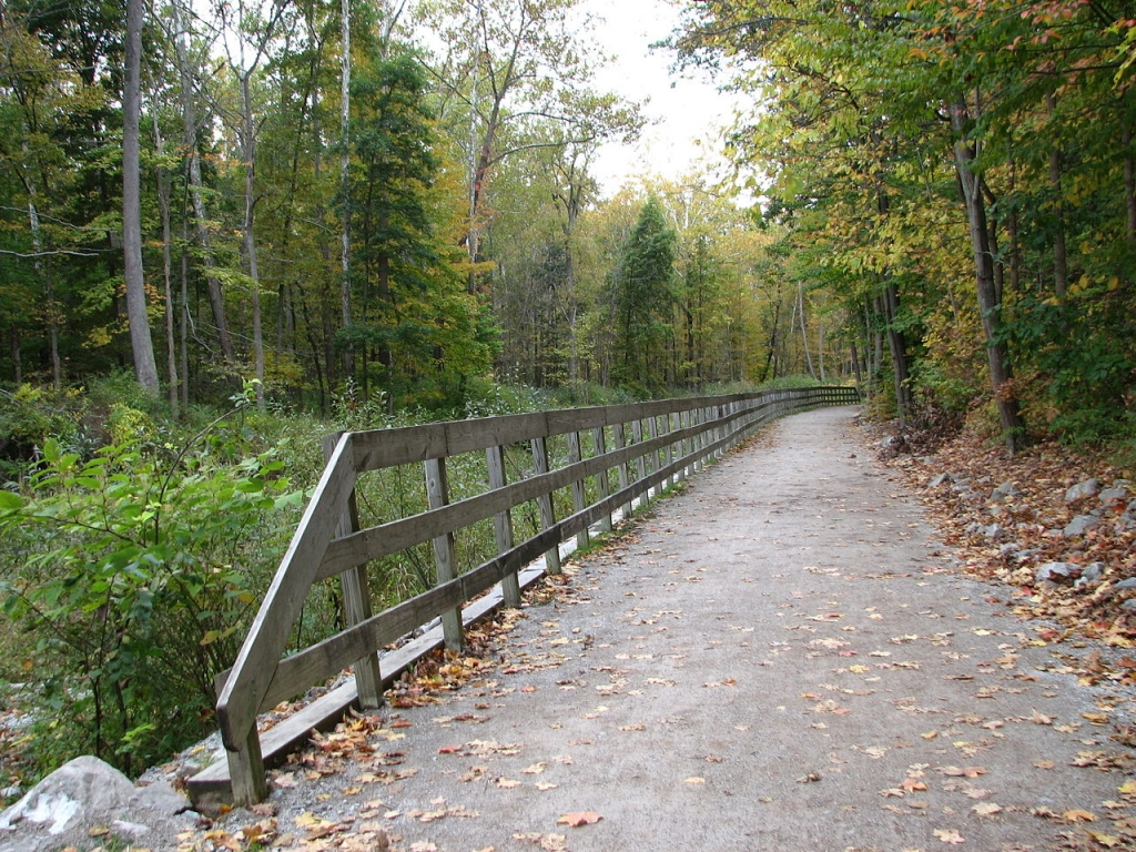 Ohio and Erie Canal towpath trail section