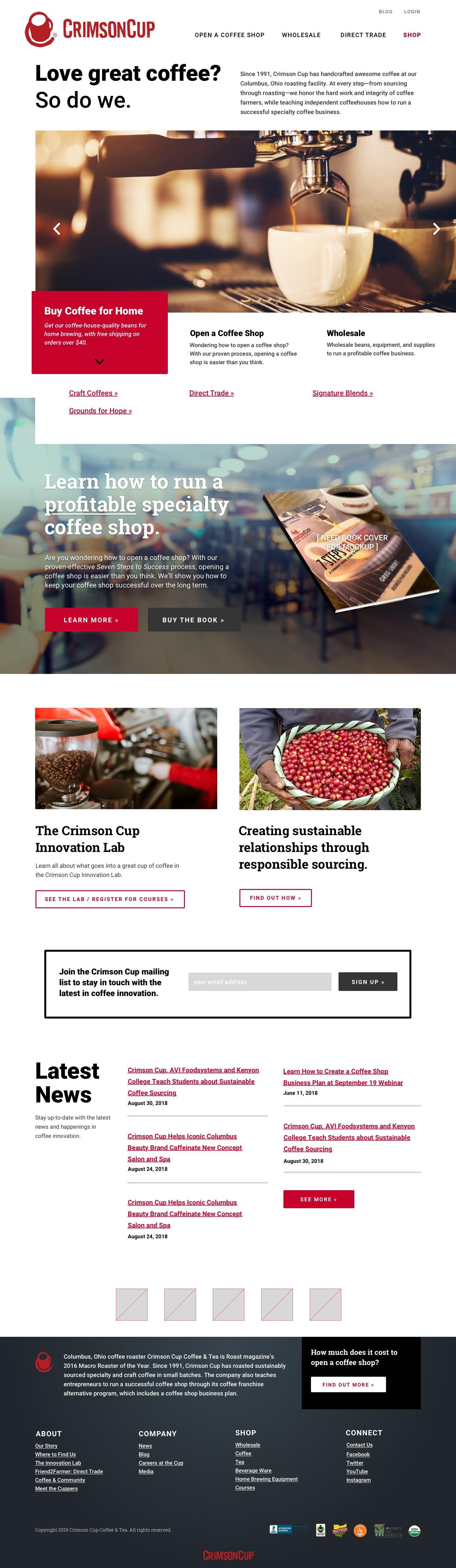 Crimson Cup - Home