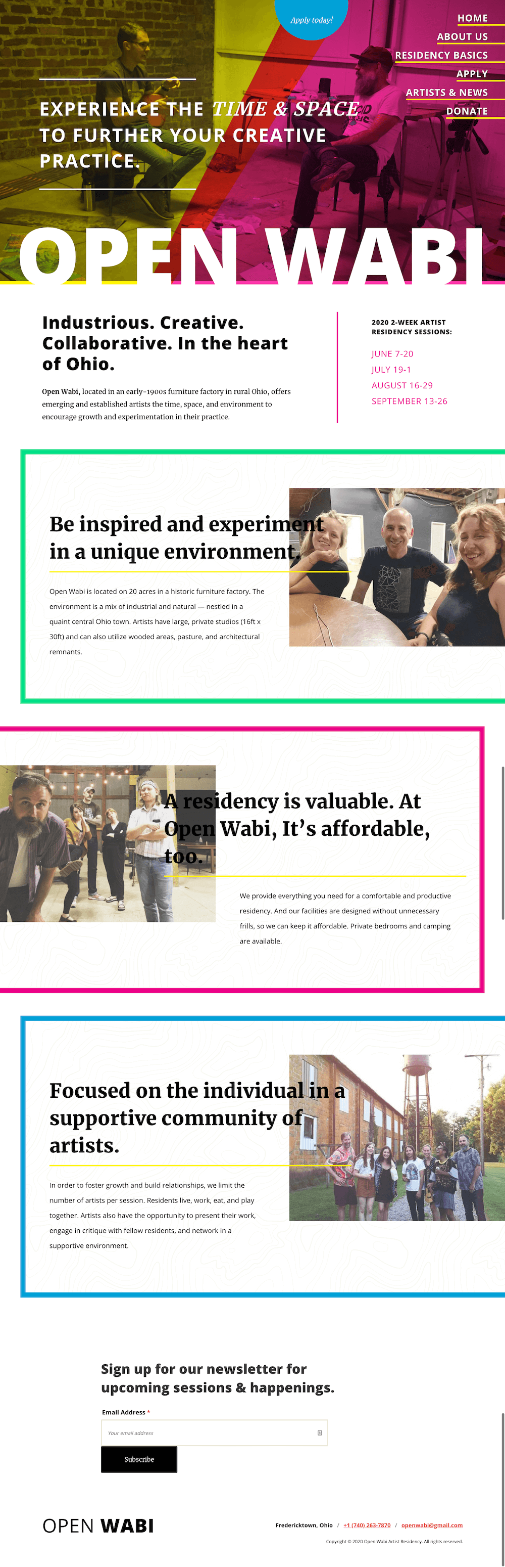 Open Wabi - Homepage